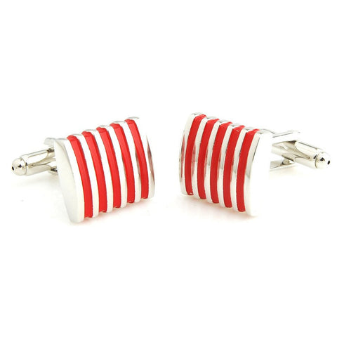 Peluche Effortless - Red Cufflinks Brass, Enamel