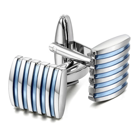 Peluche Effortless - Blue Cufflinks Brass, Enamel