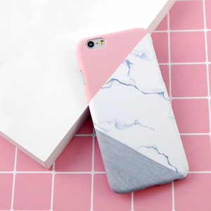pink and grey marble print matte iphone case edgability