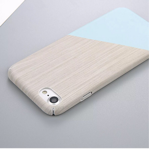 graphic blue and wood texture iphone case edgability