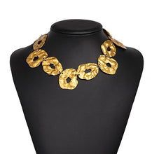 egyptian gold statement necklace edgability model view