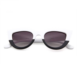 black and white shades trendy sunglasses edgability front view