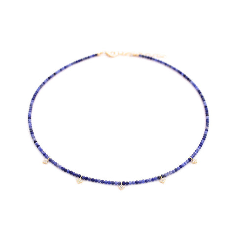 sodalite & pave diamond shape drops