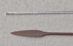 19th CENTURY ZULU THROWING SPEAR, ISIJULA
