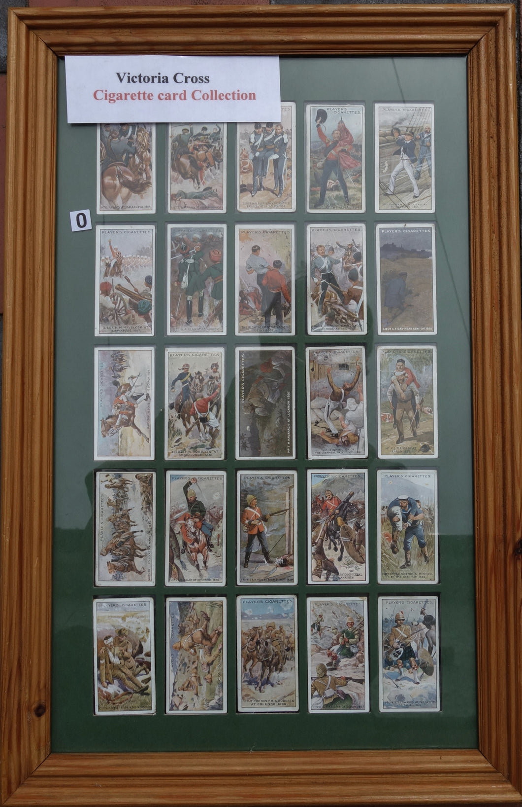 NICELY MOUNTED CIGARETTE CARD DISPLAY VC HEROES