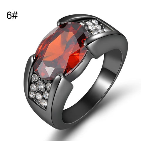 Black Plated Ruby Ring