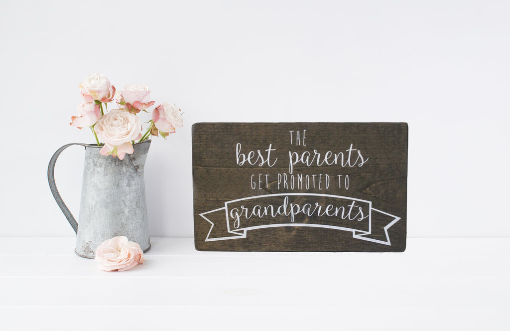 Pregnancy Announcement Wooden Sign | 12 x 7