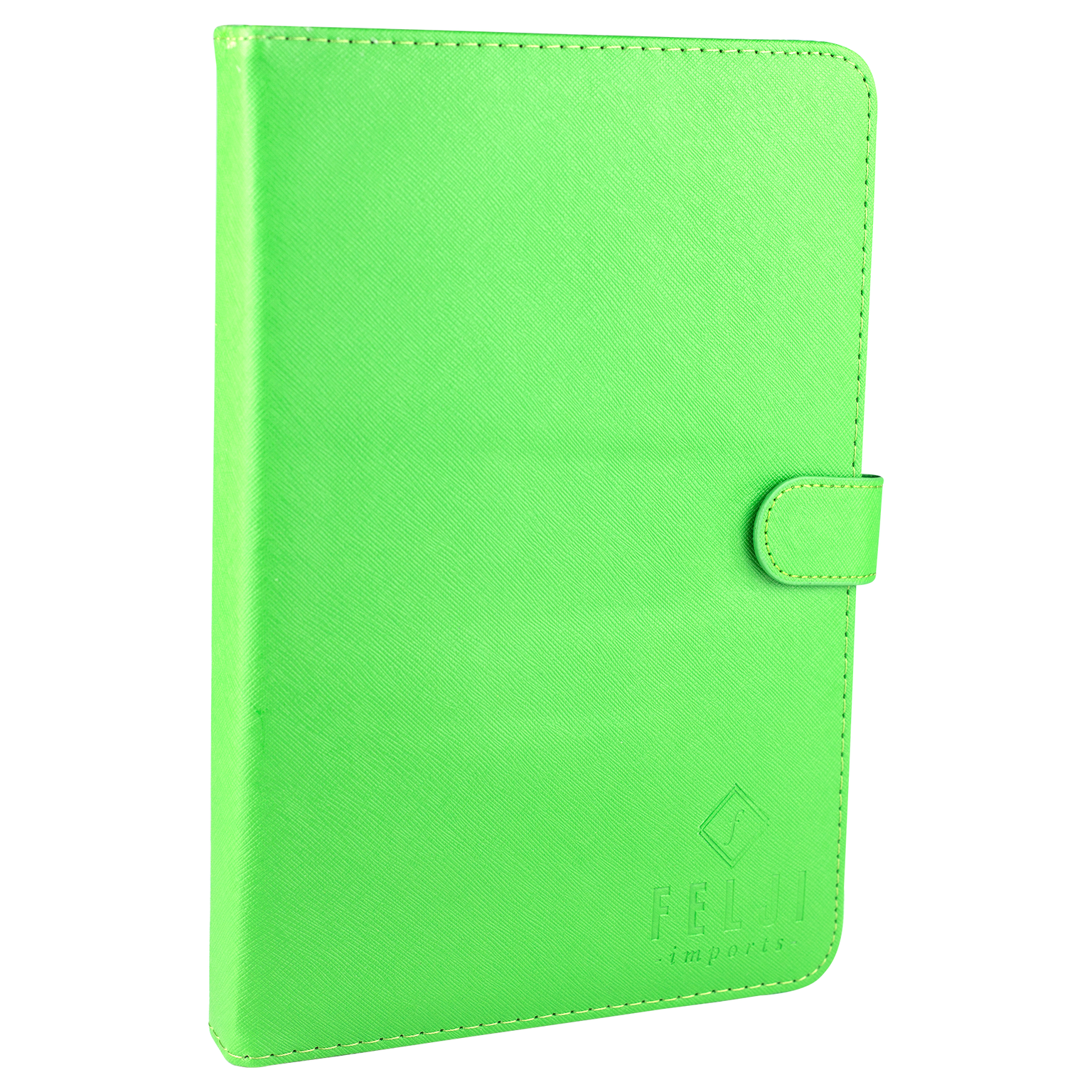Felji Green Stand Leather Case Cover for Android Tablet 8-inch Universal with USB Keyboard