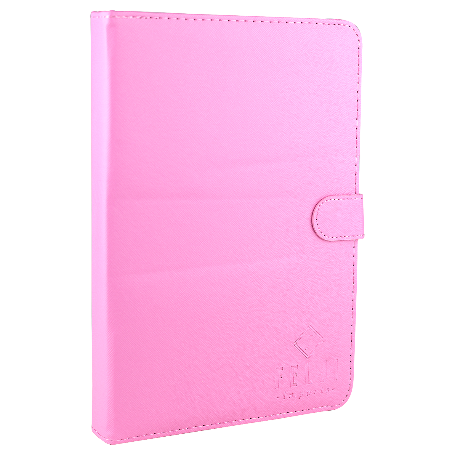 Felji Pink Stand Leather Case Cover for Android Tablet 10-inch Universal w/ USB Keyboard