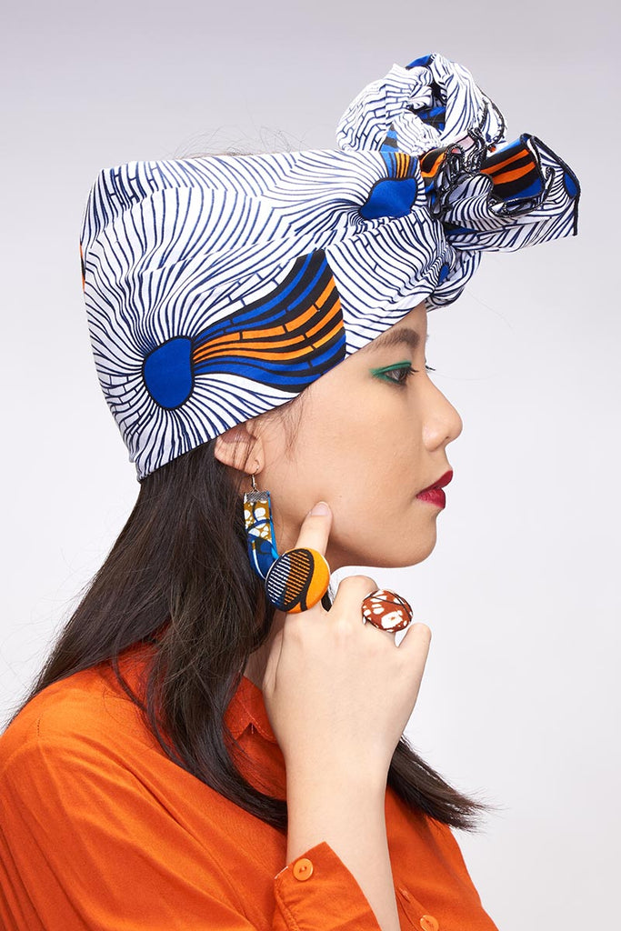 Kesandu White Headwrap