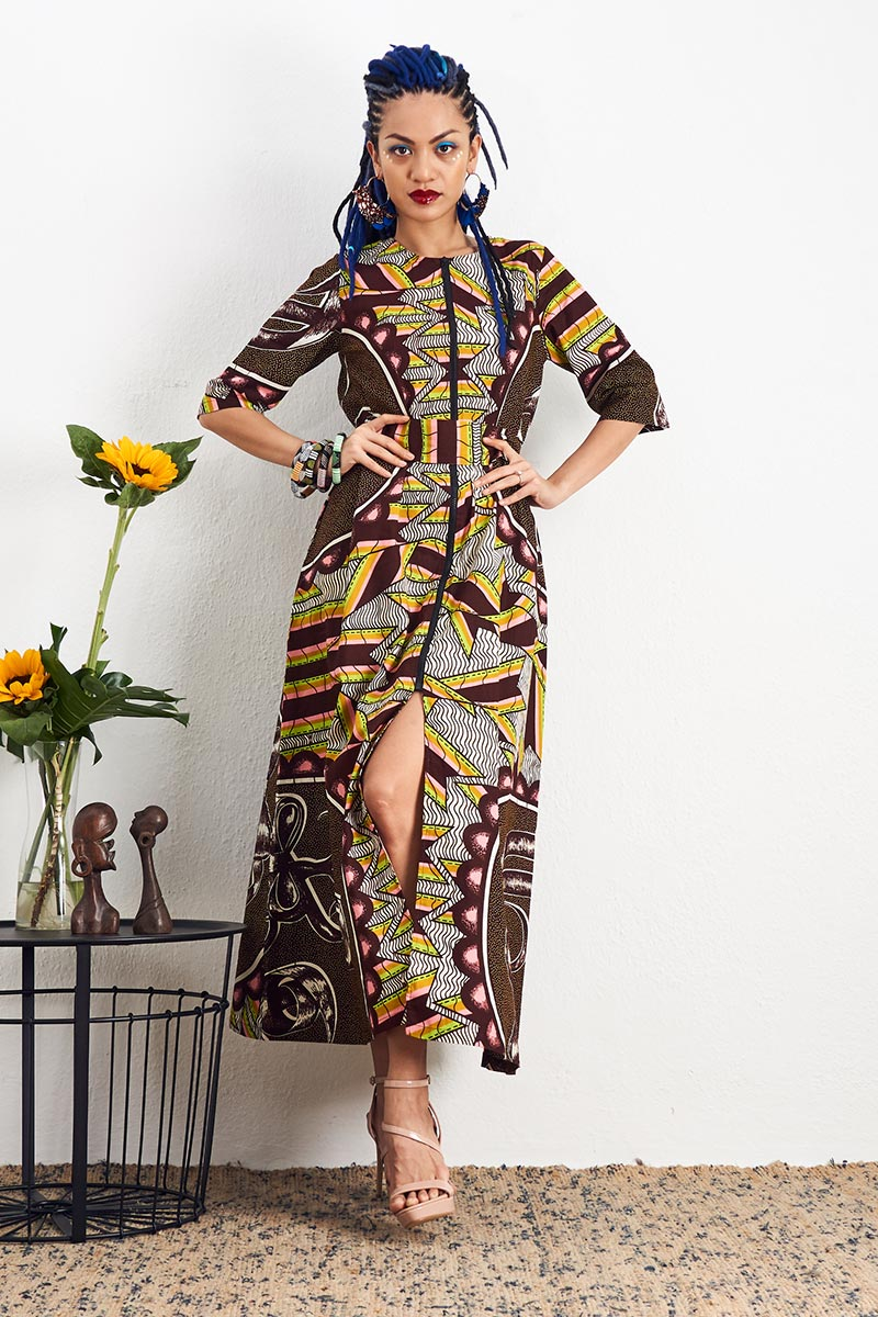 Shanumi Brown Duster Dress