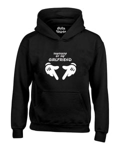 Property of My GirlFriend Funny Couples Valentine's Day Gift Unisex Hoodie