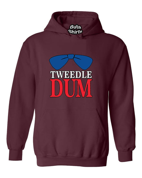 Tweedle Dum RED Funny Couples Valentine's Day Gift Unisex Hoodie