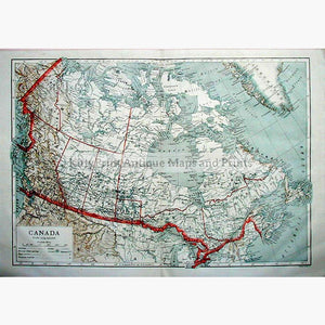 Canada 1910 Maps KittyPrint 1900s Canada & United States