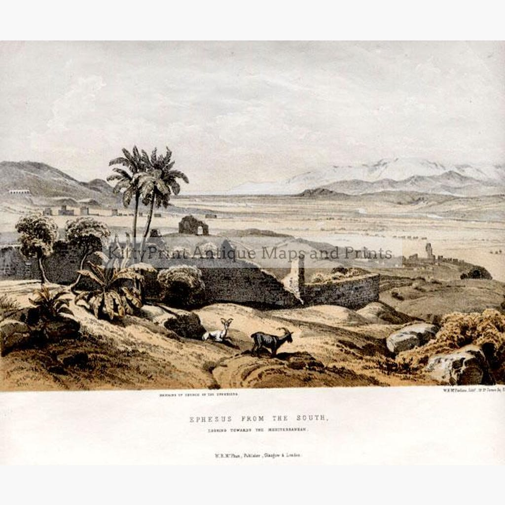 Ephesus from the South c.1800 Prints KittyPrint Greece Landscapes Ottoman Turkey & Persia