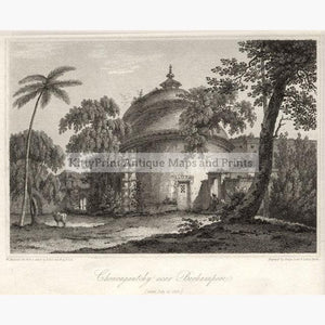 The Cuttera at Muxadavad 1810 Prints KittyPrint 1800s Castles & Historical Buildings India & East Indies