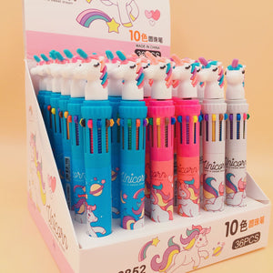 Dream Unicorn 10 Colors Ballpoint Pen