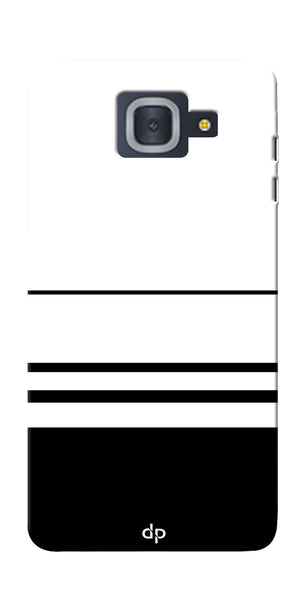Digiprints Black White Beautiful Pattern Printed Back Case Cover For Samsung Galaxy J7 Max