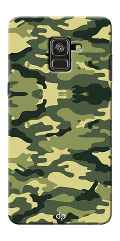 Army Pattern Back Case Cover For Samsung Galaxy A8 Plus 2018