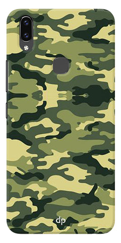 Army Pattern Back Case Cover For Vivo V9