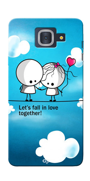 Digiprints Let'S Fall In Love Together Back Case Cover For Samsung Galaxy J7 Max