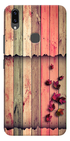 Spring Wood Pattern Printed Designer Back Case Cover For Vivo V9