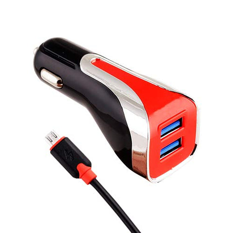 4.8A Dual USB Car Charger with Micro USB Cable(Fast Charging)