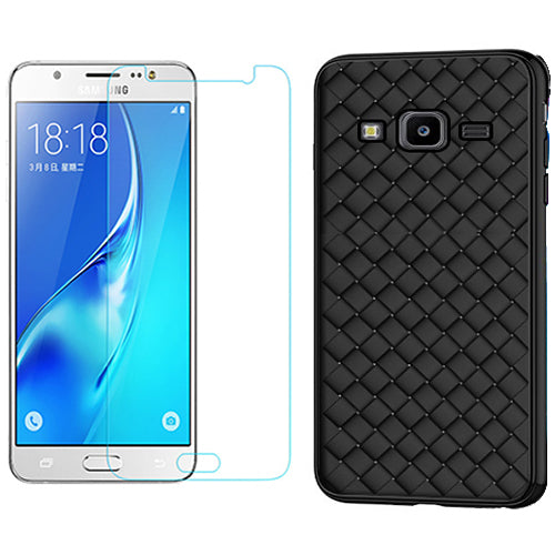 Digiprints TPU Soft Flexible Shock Proof Back Cover For With Tempered Glass Combo For Samsung Galaxy J7 Nxt (Back Cover With Tempered Glass Combo)