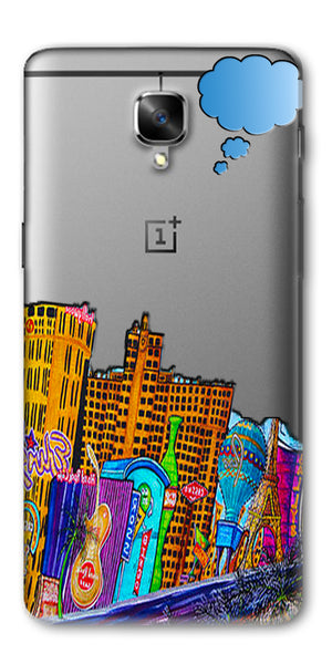 Digiprints High Tech City Design Printed Clear Case For OnePlus 3T
