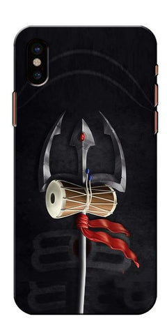 Digiprints Mahakal Trishul Printed Designer Back Case Cover For Apple iPhone X