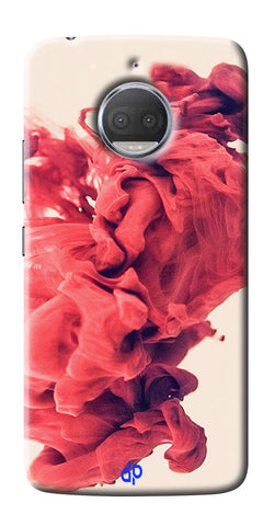 Abstract Red Smoke Cloud Printed Designer Back Case Cover For Motorola Moto G5S Plus