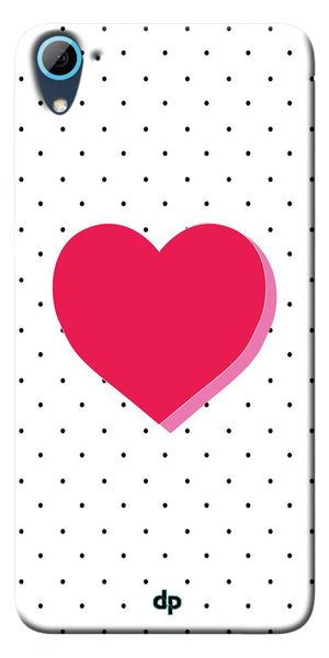 Digiprints Pink Heart Printed Back Case Cover ForHTC Desire 826