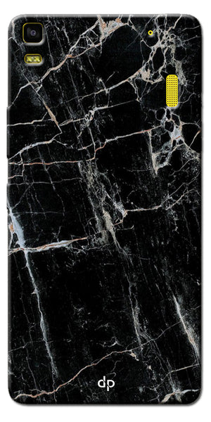 Digiprints Black Marble Design 2 Printed Designer Back Case Cover For Lenovo A7000