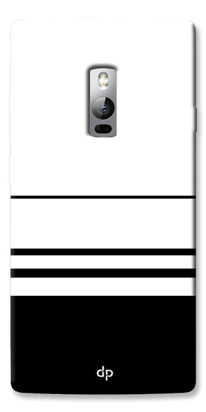 Digiprints Black White Beautiful Pattern Printed Back Case Cover For OnePlus 2
