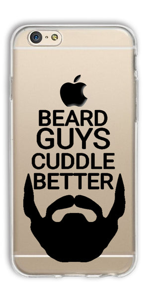 Digiprints Bear Guys Cuddle Better Wuote Clear Case For Apple iPhone 6