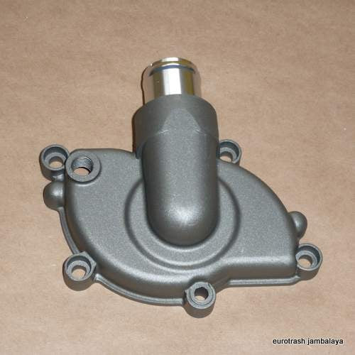 Ducati Water Pump Housing Cover 848 1098 1198 USA-made silver