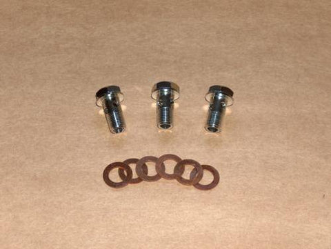 Ducati Single O/H Oil Line Bolt Set STAINLESS bevel 250 350 450