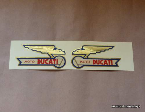 FOIL Moto Ducati Gas Tank Decal SET 0123-83-210/-220 solid
