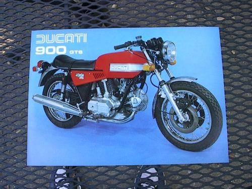 Ducati 900 GTS Brochure NOS excellent bevel twin CHEAP