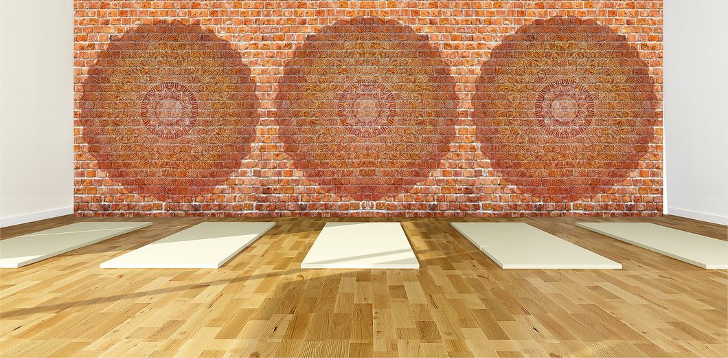 Red Brick and Mandala / Zen