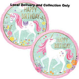 "18"" Birthday Magical Unicorn Holographic Foil Balloon"