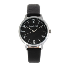 Sophie and Freda Vancouver Leather-Band Watch - Black