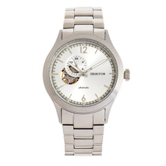 Heritor Automatic Antoine Semi-Skeleton Bracelet Watch - Silver
