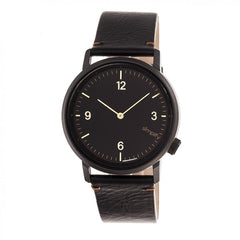 Simplify The 5500 Leather-Band Watch - Black