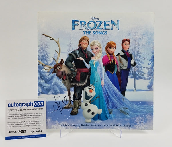 Frozen Kristen Bell Autographed Signed Record LP Album Soundtrack
