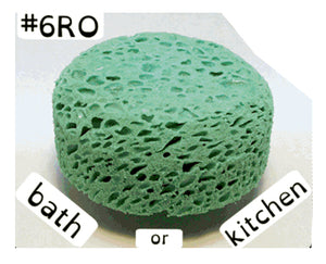 BioBob ##RO Round Bathroom or Kitchen Sponge