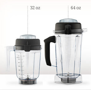 Standard 32 and 64 oz Vitamix Containers Without Blades