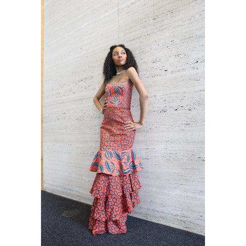 Ankara Bell Sleeve Dress
