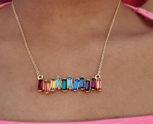 Rainbow Statement Necklace