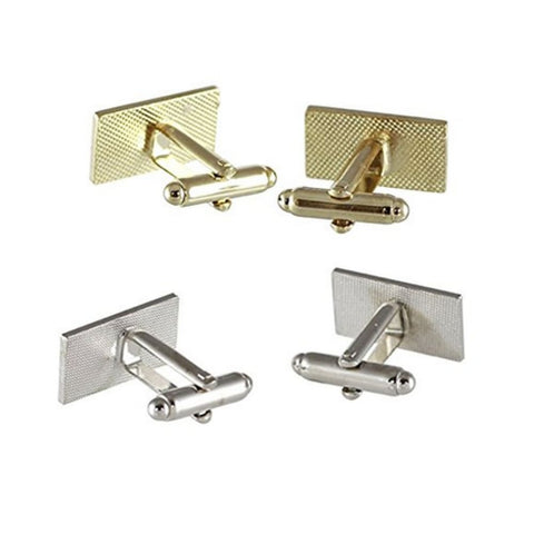 2-Pack: Official American Flag Cufflinks (Gold + Silver)